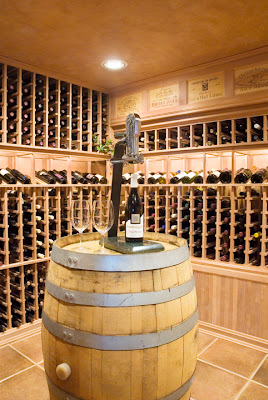 oregon residence wine cellar photographer