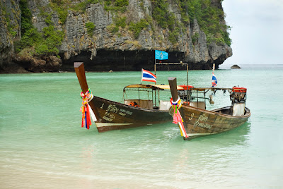 tong tail boats maya bay Thailand Professional stock photographer