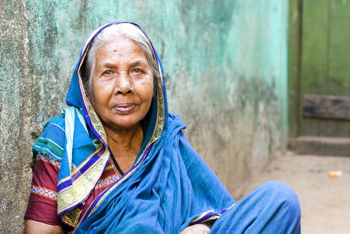 Old Woman in Goa, Stock Photography