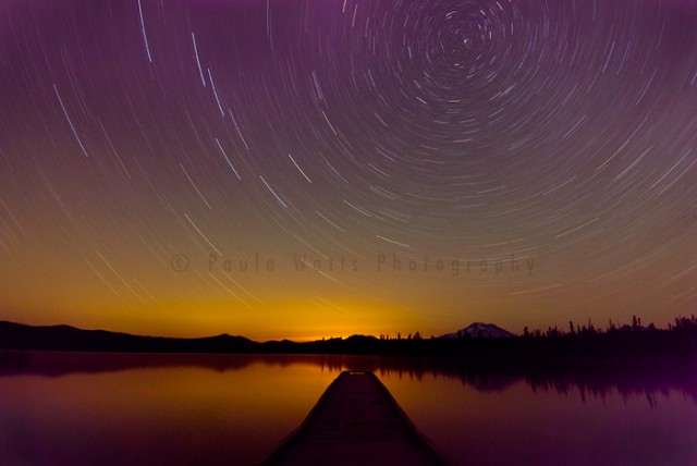 Oregon Cascade Lakes lava lake Star Trails Photographer