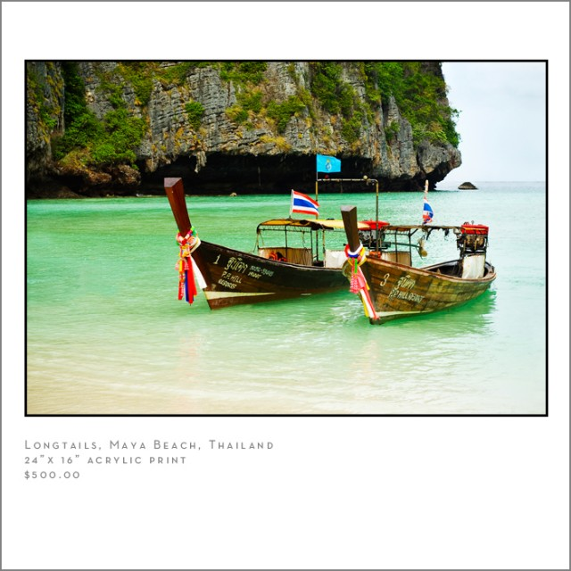 Longtail Boats Maya Beach Thailand Travel Photographer