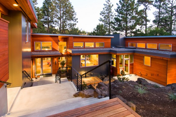 Deschutes River Modern House Photographer