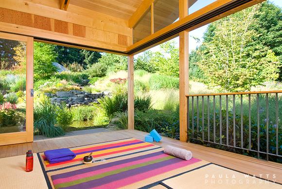 yoga studio architectural photographer oregon home magazine