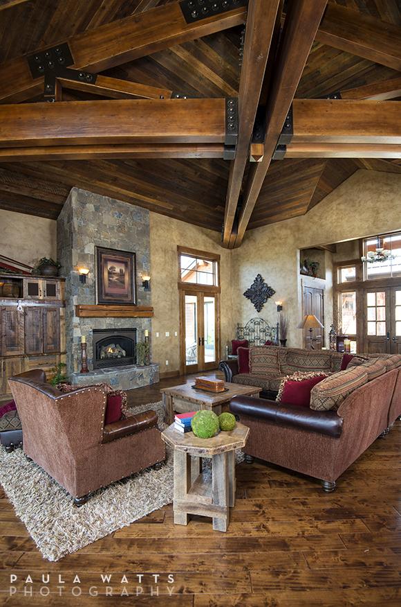 professional photographer Portland Oregon Living Room Rustic Beams
