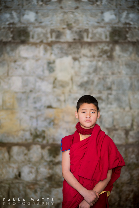 emotional young buddhist monk from Nepal