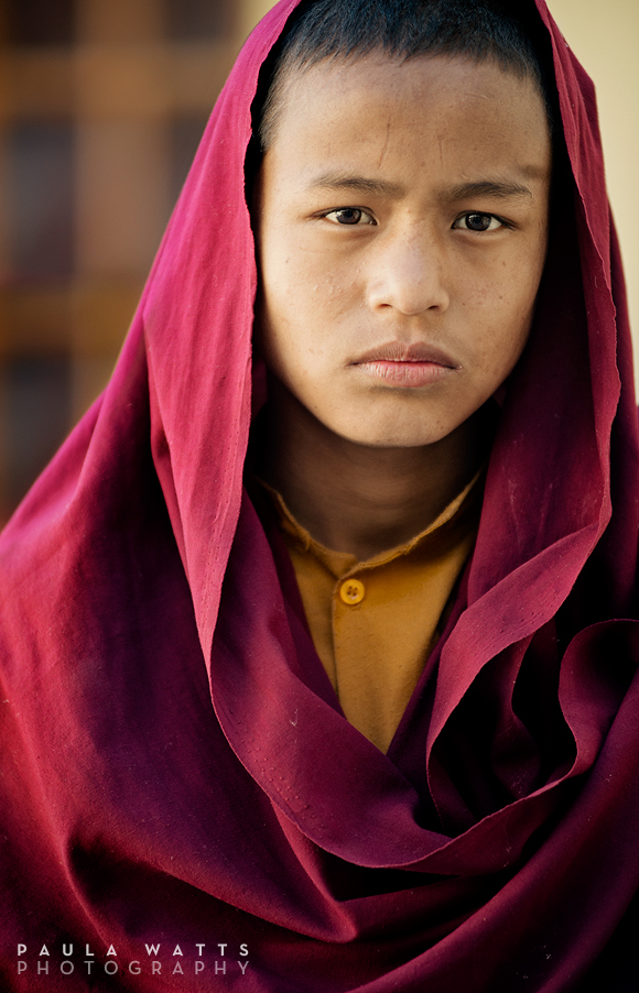 Tibet buddhist monk from Nepal