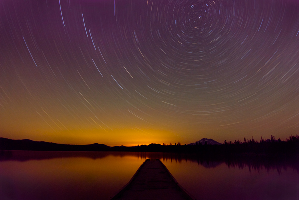Star Trails at Elk Lake, Oregon