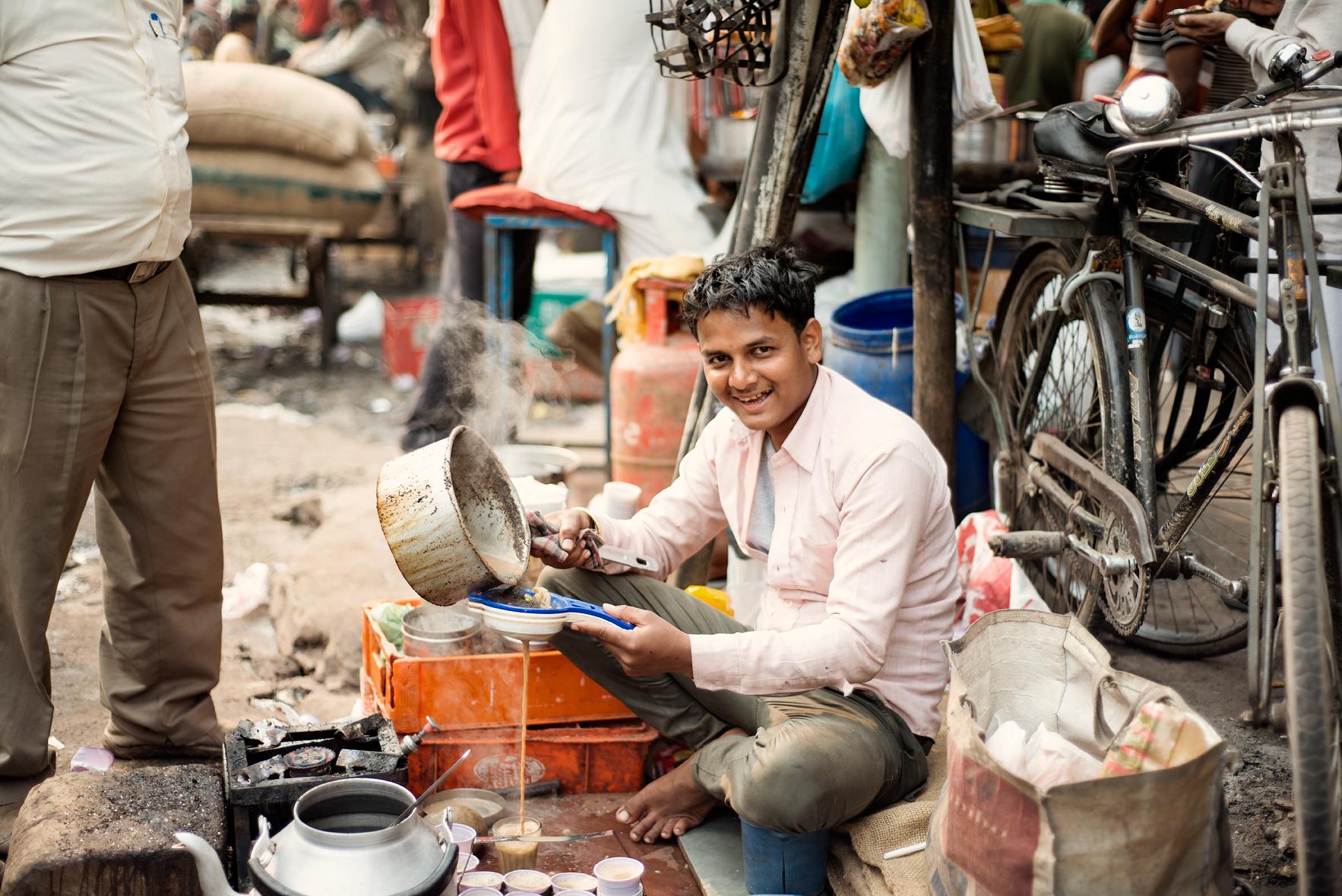 chai delhi india street travel photographer